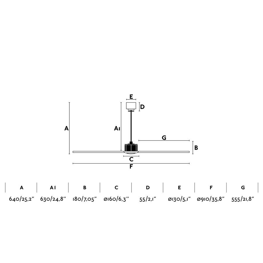 Ventilador de techo negro JUSTFAN XS de FARO