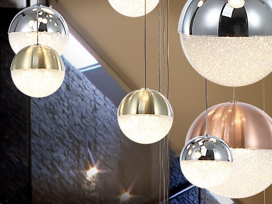 Lámpara colgante Sphere 9L LED colores Schuller